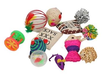 Fashion 's Talk Katzenspielzeug Katze Toys Variety Pack zum Kitty 20 Stück -