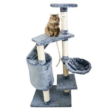 Grauer Katzenbaum - Kratzbaum aus Natursisal -