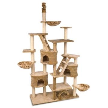 Happypet® CAT013 Kratzbaum Katzenbaum deckenhoch 2,30 bis 2,60 hoch Beige -