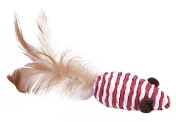 Katzenspielzeug Set - Interaktiv - Federn - Katzenangel - Stoffmäuse - Geschenkbox - The Natural Pet Company Qualitätsprodukt -