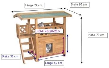 Kerbl Katzenhaus Lodge, 77 x 50 x 73 cm -