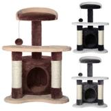 Kratzbaum, Katzenkratzbaum, Kletterbaum für Katzen, Katzenbaum, Sisal, in verschiedenen Farben (braun/beige) -