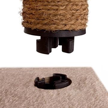 Leopet Kratzbaum Katzenkratzbaum mit GROSSEN HÖHLEN und LIEGEFLÄCHEN Spielbaum Kletterbaum mit Quick-Connect Verbindung 171.5 cm Hoch Naturfaserseilumwicklung der Stämme in der Farbe nach Ihrer Wahl -