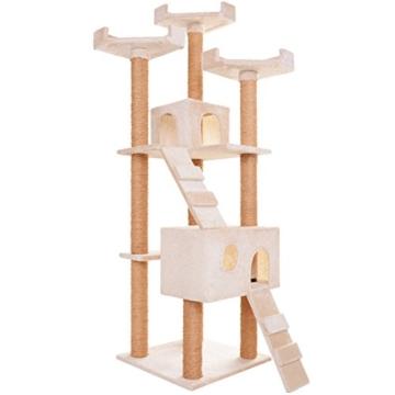 Leopet Schnellverschluss Kratzbaum Katzenbaum Katzenkratzbaum Spielbaum Kletterbaum 173 cm Hoch Möbel für Katzen in diversen Farben -