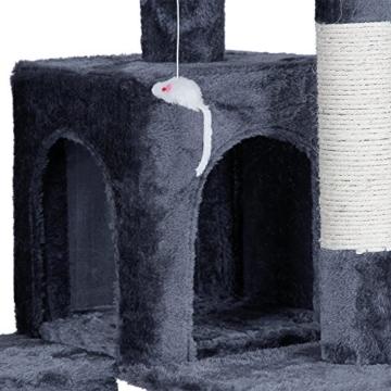 Songmics XXL Kratzbaum 180 cm hoch verdickte Säule Druchmesser ca. 8,6 cm grau PCT53G -