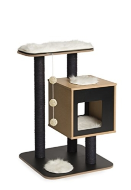 """Vesper 52043 Katzenmöbel """"Base"""" black - Kubus-Höhle mit einer Plattform -"""