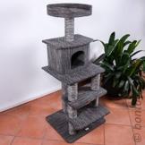 BONTOY Kratzbaum Carlo 130cm, schwarz/grau -