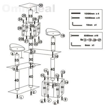 eyepower Katzenkratzbaum Nora   Mittelgroßer freistehender Kratzbaum ca. 165cm hoch   Stämme aus Natursisal   weiche Plüsch-Liegeflächen   Kletterbaum Spielbaum für Katzen   Schwarz -