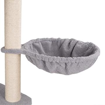 Happypet® CAT030 Kratzbaum Katzenbaum mittelhoch 1,86 m hoch Grau -