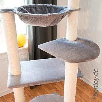 Kratzbaum BALOU XXL 191cm Grau, Stämme 12cm, für große Katzen wie Maine Coon -