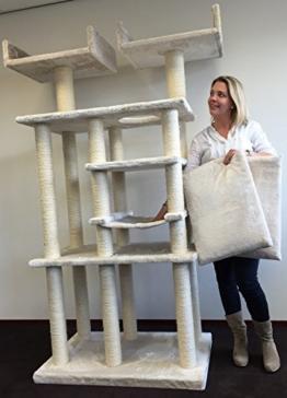 Kratzbaum Cat Palace Elite Creme. Normal €339 ! Super Amazon Promo. Katzenkratzbaum speziell für große und schwere Katzen. Europäische Qualitätsproduktion von RHRQuality -
