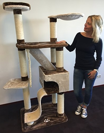 Kratzbaum für Katzen Kilimandjaro Special Creme Braun . Normal €239 ! Super Amazon Promo Sisalstämme 12cm Ø mit Holzfittinge katzenkratzbaum für große Katzen. Europäische Qualität -