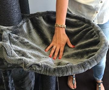 Kratzbaum große katze XXL Black Panther Dunkel Grau Normal €369 ! 12cmØ Kratzstämme 100x60x173cm und ca 62KG Super Amazon Promo. Katzenkratzbaum. Kratzbaum Speziell für große und schwere Katzen. Sehr Stabil. Qualitätsproduktion von RHRQuality -