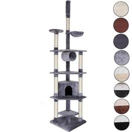 Kratzbaum, Katzenkratzbaum, Kletterbaum für Katzen, Katzenbaum, Sisal, in verschiedenen Farben (hellgrau) -