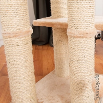 Kratzbaum Pascha Deckenhoch mit 3 Ebenen creme 240-260cm -