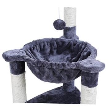 Songmics Kletterbaum Kratzbaum mit Liegemulde 68 cm hoch PCT83G -