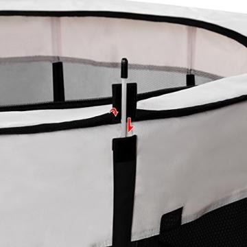 Songmics Oxford Welpenauslauf faltbar mit herausnehmbare Boden 115 x 115 x 58 cm schwarz PPP15H -