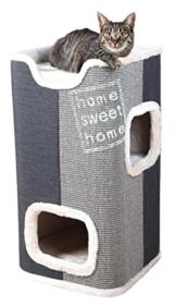 Trixie Jorge Cat Tower, Durchmesser 78cm, hellgrau/anthrazit -